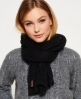 Superdry North Cable Scarf Black