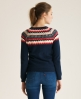 Superdry Cotton Fairisle Cardigan Navy