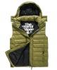 Superdry Fuji Double Zip Hooded Gilet Green