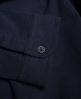 Superdry Casual Pique Grandad Shirt Navy