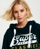 Superdry Classics Cropped Hoodie Green