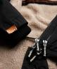 Superdry Hooded Super Wind Parka Coat Black