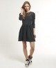 Superdry Lace Skater Dress Black