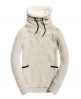 Superdry Top confortable à col cheminée doublé de fausse laine de mouton  Gris