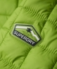 Superdry Hooded Box Quilt Fuji Jacket Green