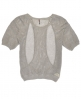 Superdry Top à encolure ronde Aeroknit Racer Gris Clair