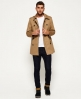 Superdry Winter Rogue Trench Coat  Brown