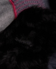 Superdry Antarctic Faux Fur Weste Schwarz