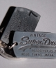 Superdry Mandarin Dogtag keyring Silver