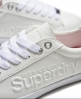 Superdry Super Sleek Logo Low Top Trainers White