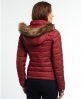 Superdry Fuji Slim Double Zip Hooded Jacket  Red