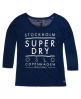 Superdry Nordic Slouch Crew Neck Shirt  Marineblau