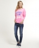 Superdry Athletique Burnout Top Pink
