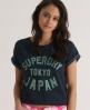 Superdry Super Japan Nep Crew Blue
