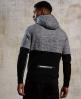 Superdry Gym Tech Colour Block hættetrøje med lynlås  Sort