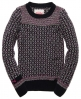 Superdry Alpine Fairisle Crew Navy
