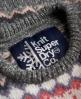 Superdry Fairisle Snowflake Jumper Light Grey