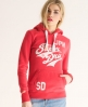 Superdry Stacker Hoodie Red
