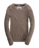 Superdry Croyde Cable Crew Beige