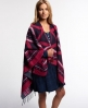Superdry Kaya Blanket Cape Navy