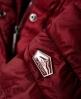 Superdry Luxe Fuji Kapuzenjacke mit Doppelreißverschluss Rot