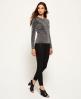 Superdry Metallic Sparkle Knit Jumper Grey