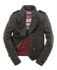 Superdry Cropped Cavalry Jacket Dark Grey