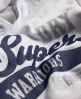 Superdry Warriors Hoodie Light Grey