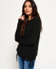Superdry Arizona Lace Up Rib Knit Jumper Black