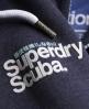 Superdry Tri Tipping Zip Hoodie Navy
