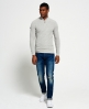 Superdry Premium City Henley Top Grey