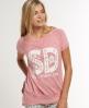 Superdry Crew Tee Dress Pink