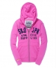 Superdry supplies core zip hoodie Pink
