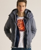 Superdry Hooded Polar Windcheater Dark Grey