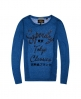 Superdry Dunloe Long Sleeve Graphic Top  Navy