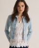 Superdry Skinny Cord Denim Jacket Blue