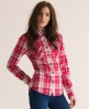 Superdry Lumberjack Patch Shirt Red