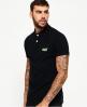 Superdry Classic Cali Pique Polo Shirt Black