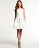 Superdry High Neck Scuba Dress Cream