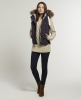Superdry Fur Hooded Sherpa Gilet Purple
