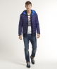 Superdry Fuji Fixed Hood Jacket Blue