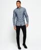 Superdry Tweed Riveter Shirt  Navy