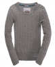 Superdry Croyde Cable Crew Grey