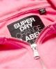 Superdry Orange Label Luxe Loopback Zip Hoodie Pink