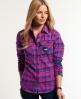 Superdry Milled Flannel Shirt Pink