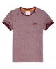 Superdry Orange Label Cali Ringer T-Shirt Rot
