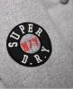 Superdry Varsity Bomber Jacket Light Grey