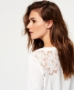 Superdry Essentials Lace Slouch Shirt Weiß