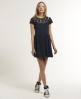 Superdry Lace Skater Dress Navy