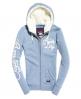 Superdry Sweat à capuche zippé Applique Bleu